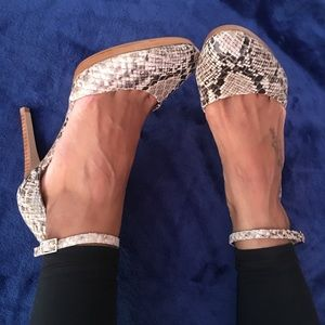 Saks Fifth Avenue Brianna Ankle Strap Heels size 8